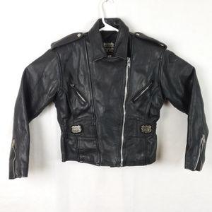 Vintage Highway One Black Leather Jacket Women's M
